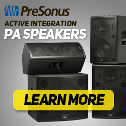PreSonus Active Integration PA Speakers