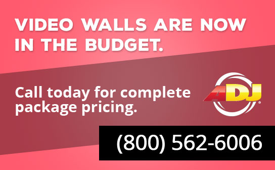 ADJ AV6 video walls are now in the budget