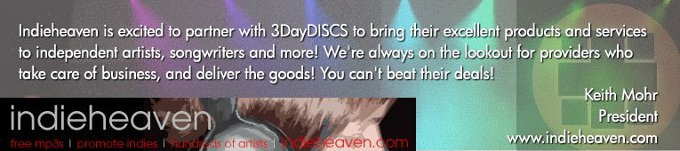 indieheaven statement announcing partnership with 3DayDiscs from President Keith Mohr of IdieHeaven.com