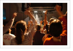 Youth worshiping God to a Youth Worship Team Band