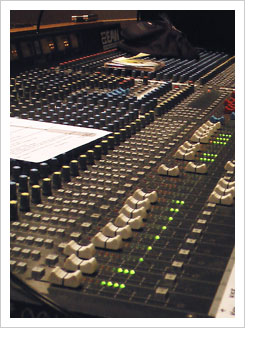 Large audio Mixing sound board