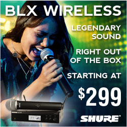 New Shure BLX Wireless Systems on Sale!