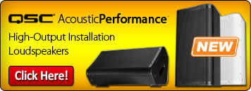 QSC AcousticPerformance high-output installation loudspeakers give you consistent coverage with DMT technology!