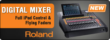 Roland Digital Mixer with Full iPad Control and Flying Faders.