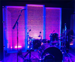Small Church Stage Design Ideas church stage design ideas Drum Set With Purple And Blue Lighting On A Backdrop Created Using Bubble Wrap