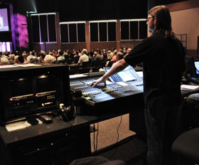 Tech runs sound for Church