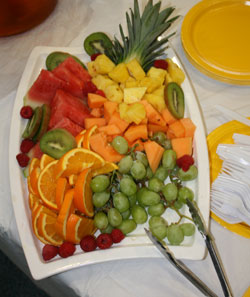 Big plate of fresh fruit
