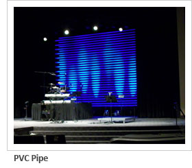 Ho to use PVC pipe backgound for stage design backdrop