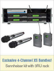 Sennheiser XS Series Wireless Active 4-Channel Bundle (Freq A)