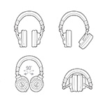 Audio-Technica ATH M50x Headphones top thumbnail