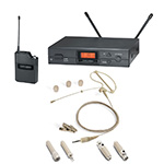 Audio-Technica Wireless Microphone System and Samson Technologies SE50T  Headworn Microphone