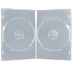 MediaSAFE 2-DVD Case-Slim - Clear