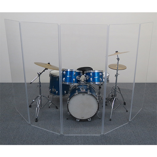 Clearsonic's A2466X5 5-Section Drum Shield