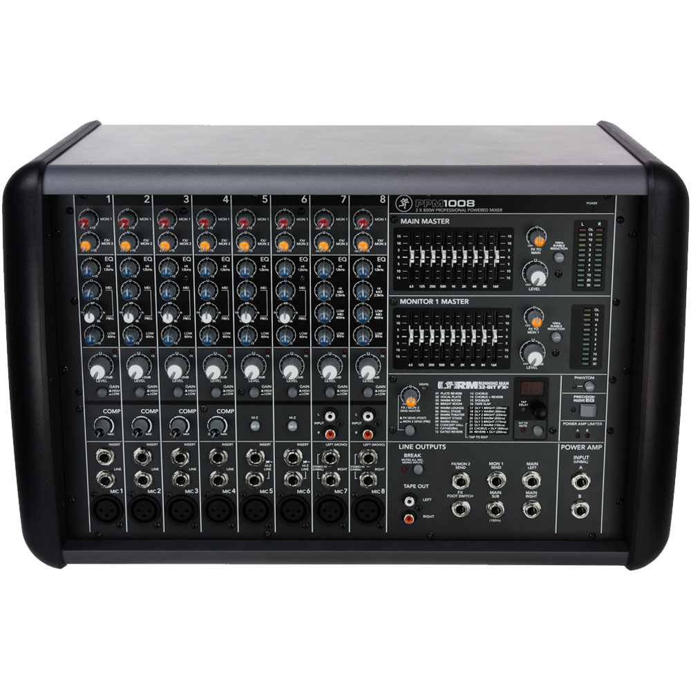 mackie ppm1008 powered mixer 8 channel. Black Bedroom Furniture Sets. Home Design Ideas