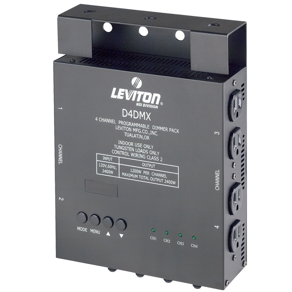 Leviton D4DMX-MD3 Dimmer Pack