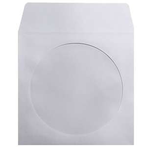 MediaSAFE White Paper CD Sleeves with Window & Flap