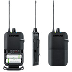 Shure P3R Wireless Bodypack Receiver back thumbnail
