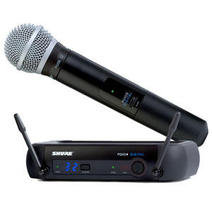 shure pgxd24 pg58 digital handheld wireless microphone includes shure pg58 24 bit 48 khz. Black Bedroom Furniture Sets. Home Design Ideas