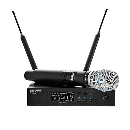 Shure QLXD24/B87A, Handheld Wireless Microphone System,