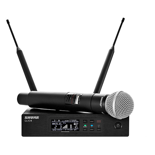 Shure QLX-D Wireless System with SM58 Handheld Microphone