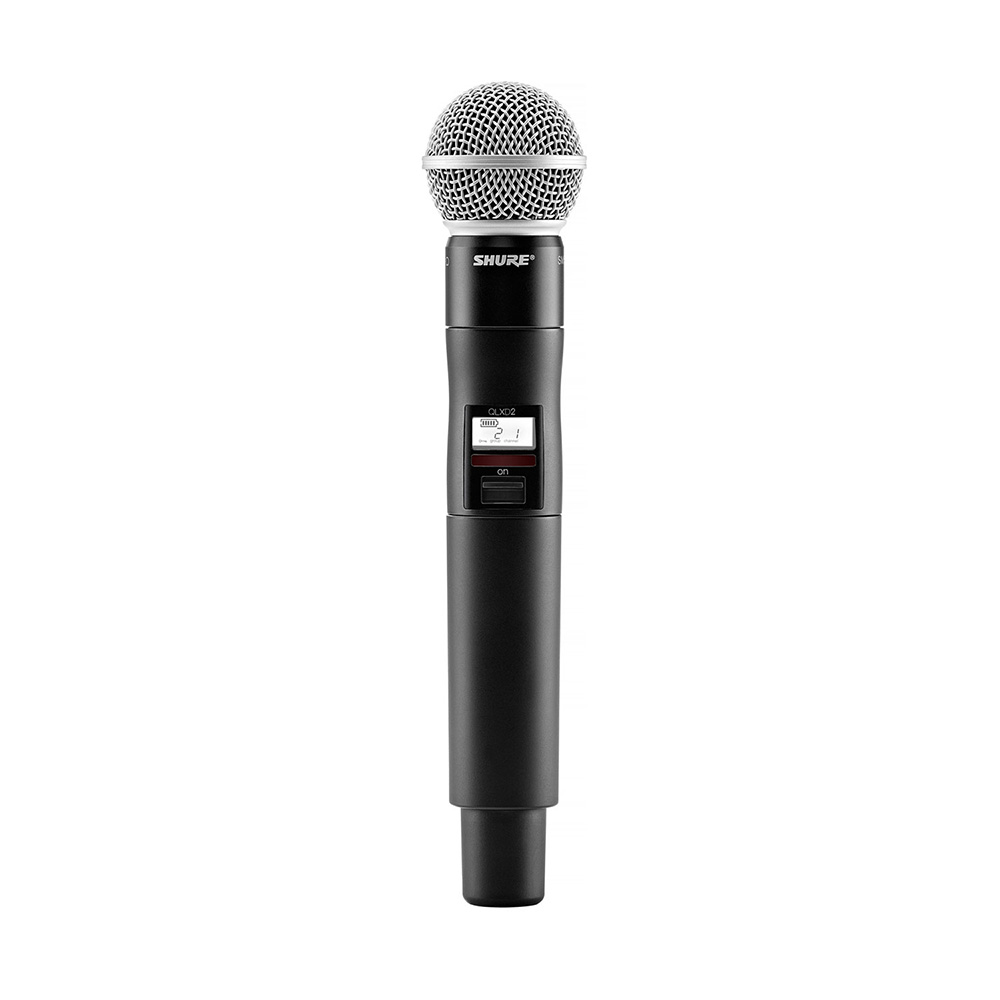 shure qlx d wireless microphone with sm58 capsule g50 frequency band 470 534 mhz. Black Bedroom Furniture Sets. Home Design Ideas