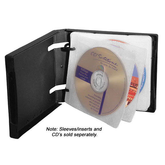 2 Ring Binder, Single Or Dual Sided Disc Pages, Acceptes Full Wrap Around  Artwork, QTY 20 Per Box