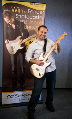 Lincoln Brewster Guitar Giveaway Winner