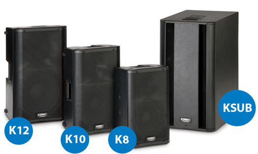 QSC K Series Powered Speakers - K12, K10, K8 and KSUB