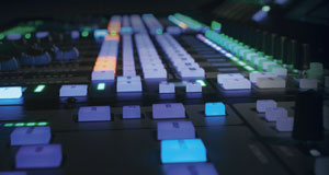 Sideview closeup of the Solid State Logic SSL Console