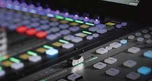 Up close photo of the automation controls available on the SSL Live console