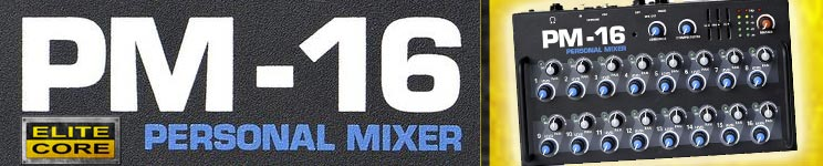 Elite Core PM-16 Personal Monitor Mixers