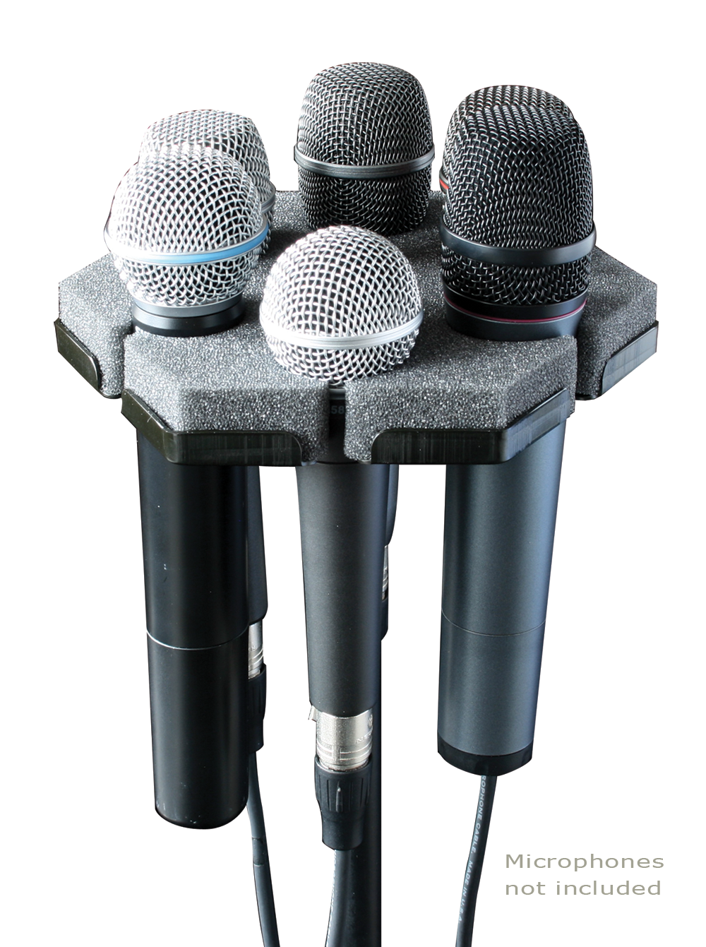 ace backstage softpod 6 microphone holder. Black Bedroom Furniture Sets. Home Design Ideas