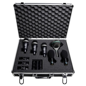 AKG Drum Mic Kit in Hard Case with foam interior