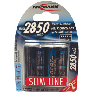 Ansmann 5035212-US Slimline Rechargeable AA Batteries