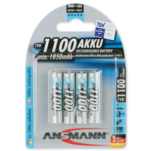 Ansmann Rechargeable AAA Batteries