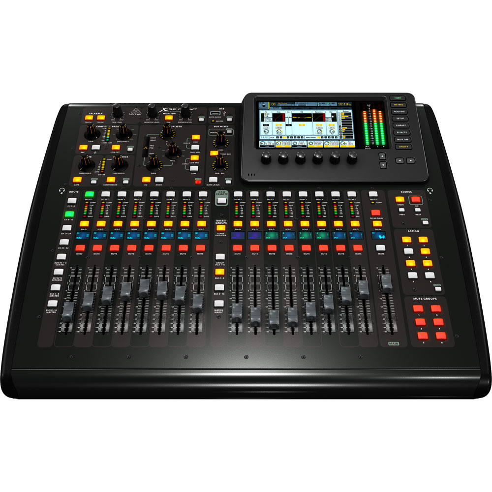 behringer x32 compact digital mixing console with 16 midas preamps and 17 motorized faders. Black Bedroom Furniture Sets. Home Design Ideas