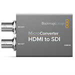 Blackmagic Design (CONVCMIC/HS/WPS) Micro Converter - HDMI to SDI w/Power Supply  thumbnail