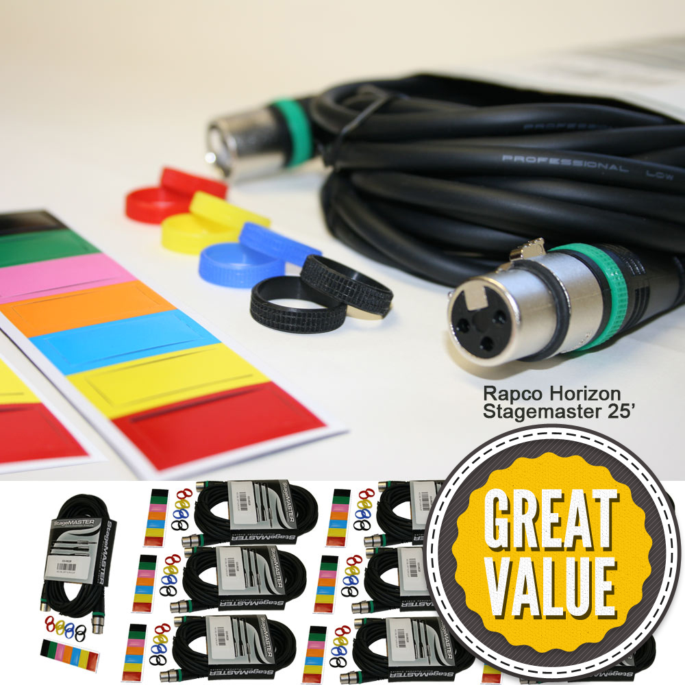 Cci Solutions 10 Microphone Cable Pack Electrical Wire Color Codes Quotes 25 Xlrf Xlrm Cables Sturdy Reusable Ties 2 Sets Of Colored Magnetic Mixer Blank Organizers 100 Coded Mic