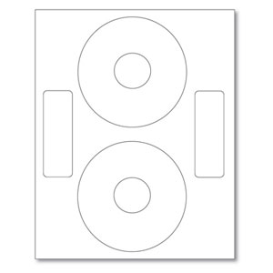 MediaSAFE White Matte CD DVD Labels 200 Pack