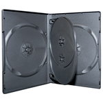 MediaSAFE 4-Disc Black Flip Tray DVD Case