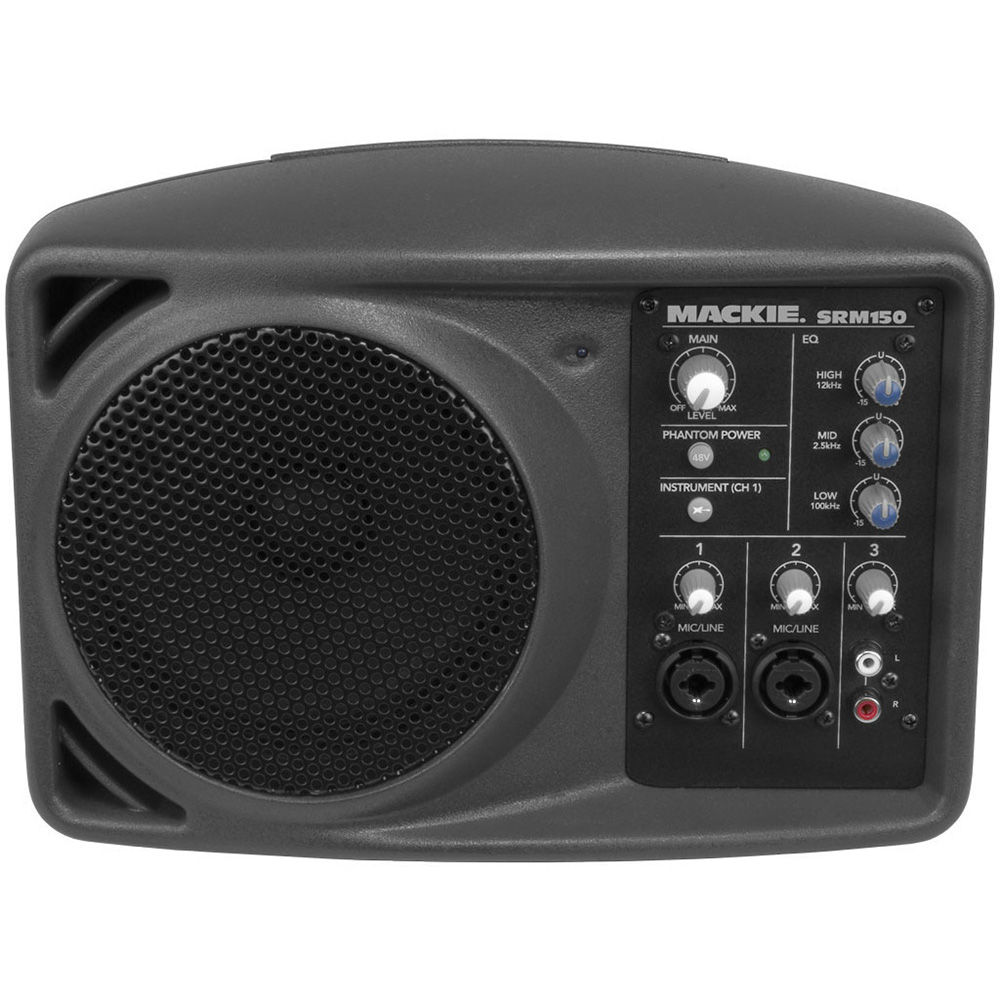 mackie srm150 compact active pa system with 3 channel mixer. Black Bedroom Furniture Sets. Home Design Ideas