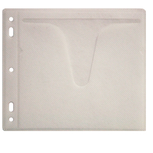 MediaSAFE Disc Album Dual Disc Sleeve Insert - White Cloth
