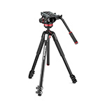 Manfrotto MVH502AH Fluid Video Head with MT055XPRO3 tripod