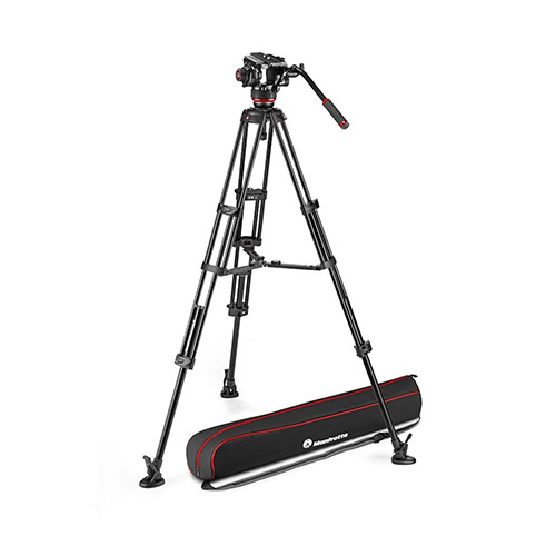 Manfrotto 504X Fluid Video Head with Alu Twin leg