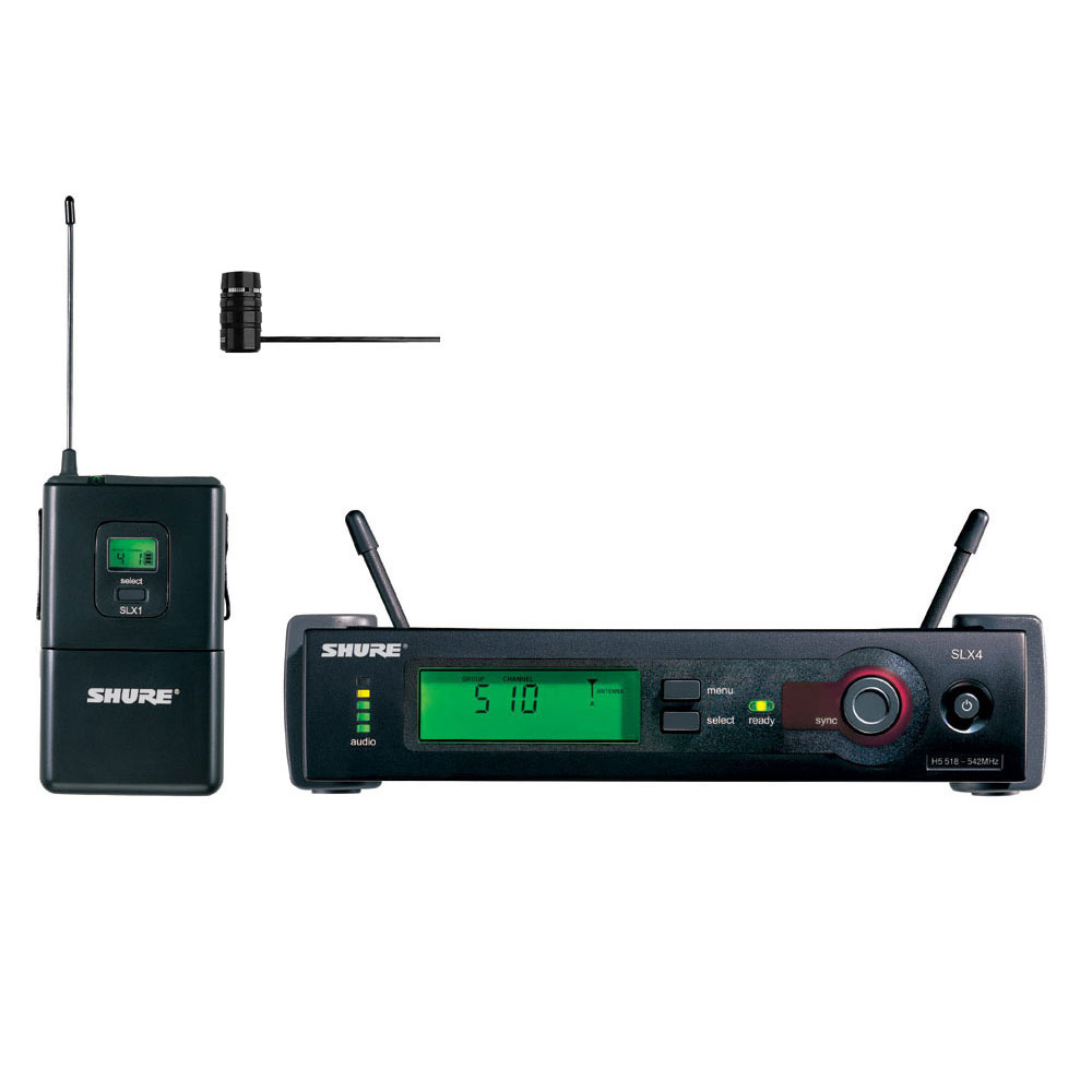 shure slx wl185 lavalier wireless bodypack system h5 frequency band 518 542 mhz. Black Bedroom Furniture Sets. Home Design Ideas