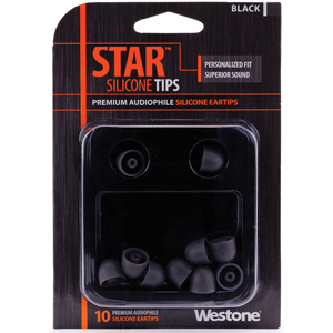 Westone STAR Silicone Eartips - Black