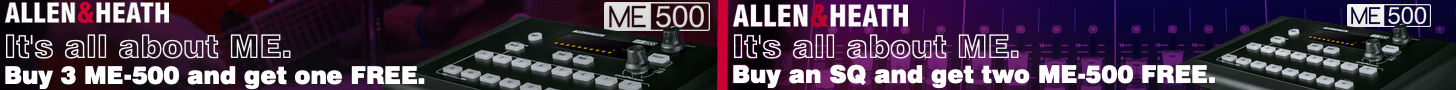 Allen and Heath ME-500 promotion March 1, 2020 through March 31, 2020